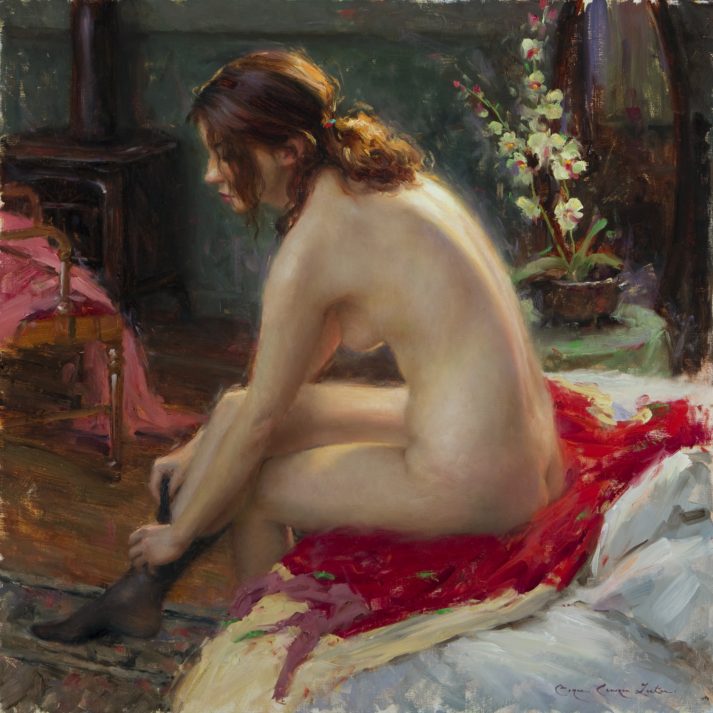 "Red,"" by Bryce Cameron Liston. Red is the signature image of the show"